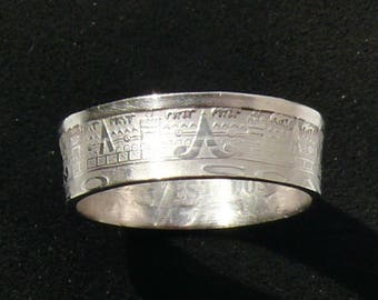 1940 Mexican Calendar Coin Ring, Ring Size 8 1/2 and Double Sided