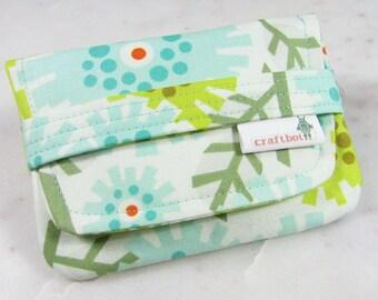 Sanitary Pad Holder, Heather Bailey Aqua Floral, Tampon Case, Sanitary Pad Case, Tampon Holder, Sanitary Napkins, Period Case, Card Case