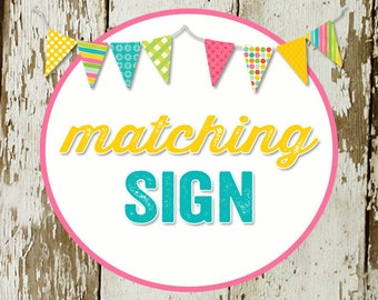 SIGN for party to match any invitation in the shop katiedid designs cards