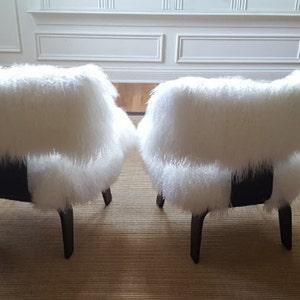 Mongolian Lamb Chair Eames Style Sheepskin