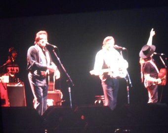Vintage 35mm Photo Slide Johnny Cash Waylon Jennings Willie Nelson Concert