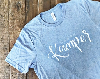 KIDS Happy Kamper Hand Lettered Short Sleeve T Shirt