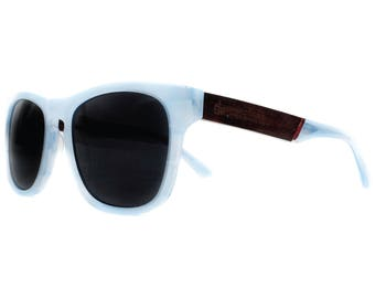Bantham Blue Opel Polarized Sunglasses - Wood & Acetate