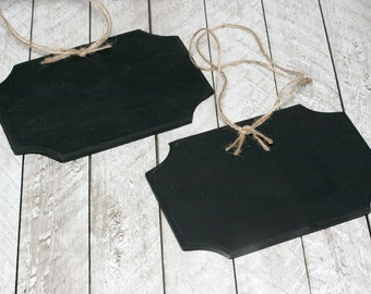 Hanging Chalkboard Signs, Set of 2