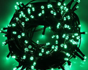 200 LEDs Green 72ft. Waterproof Lights Solar Powered Outdoor String Lights ------ Green ------ USA Seller ------ Fast Shipping