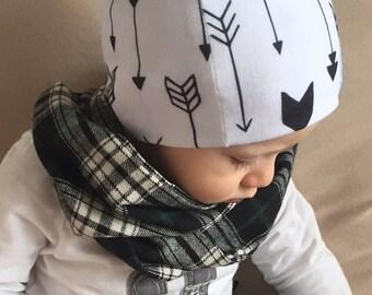 Slouch Beanie/ hipster beanie/ arrows beanie/ arrows beanie hat/ black white beanie/ toddler beanie/ slouchy hat/ slouchy beanie - Arrows