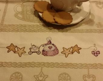 """Tea towel """"the time"""""""