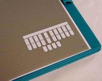 Steno Keys Vinyl Decal