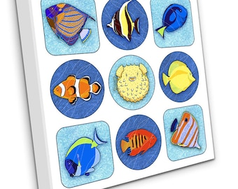 Tropical Fish on Canvas