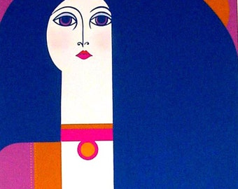 """A Serigraph Print-""""TAMBOURINE""""  - Limited Edition"""