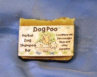 Dog Poo Herbal Shampoo Soap Bar for Dogs
