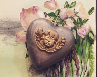 Metalic milagro heart