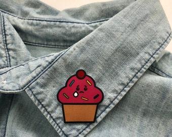Crybaby Cupcake Pin / Shrink Plastic