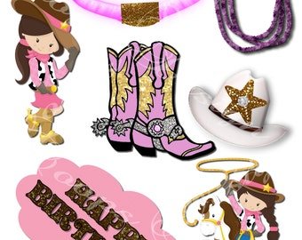 Cowgirl Western Centerpiece Table Decoration, Cowgirl Party, Cowgirl Birthday, Cowgirl Decorations, Cowgirl Theme, By Coopsdesign