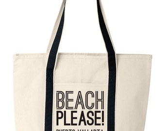 Custom Beach Tote, Customized Beach Tote Bag, Custom Beach Bag, Beach Please Bag