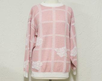 sweet vintage rose sweater