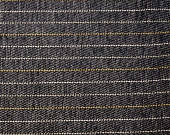Stripe Charcoal Black Fabric