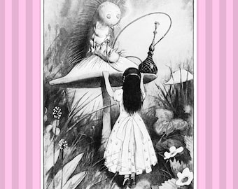 Alice in Wonderland Wall Art POSTER Kids Alice in Wonderland Print Kids Room Poster Children Wall Art Lewis Carroll Nursery Kids Poster #2