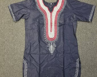 African clothing for men Dashiki S-5X Navy blue