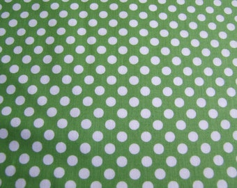 Green Small Dots Cotton Fabric by the Yard Riley Blake Designs