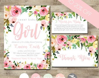 Baby shower packages t3 designs co watercolor flower baby shower invitation package girl baby shower invitation girl baby shower invite filmwisefo