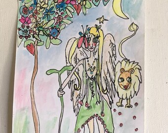 Sterre and the beautiful blossom tree