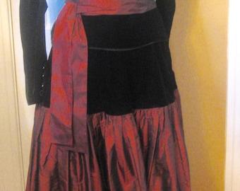 YSL 1980's Rive Gauche Holiday Dress