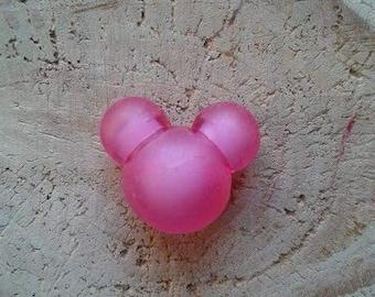 Pink Pearl head of Mickey 3D acrylic