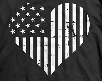 American Flag Heart flag, Fourth of July, 4th of July, Memorial Day, Independence day