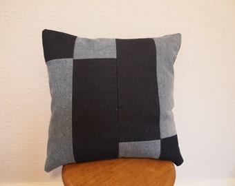 Denim Patchwork Cushion