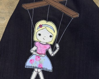 Sketchy Marionette Doll Appliqué