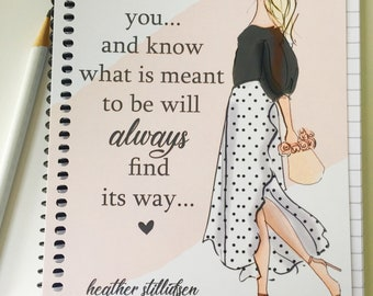 Gratitude Journal -  Carry On -  Summer notebooks  -Quotes - Notebooks - Gifts for Women Teachers -