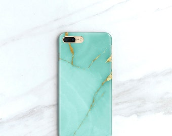 iPhone X Case Turquoise Marble iPhone 7 Plus Case Teal Stone iPhone 8 Case, Aqua iPhone 8 Plus Case, SE, 6S Plus, Samsung Galaxy S8 Plus