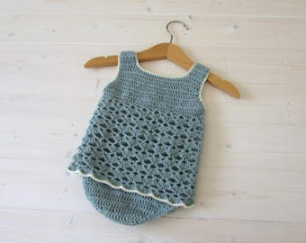 Crochet Lace Baby Romper Written Pattern