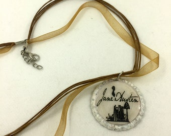 Necklace with Jane Austen Pendant