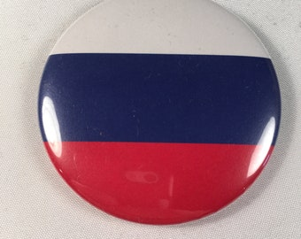 Russian Flag Refrigerator Magnet / Pin / Bottle Opener