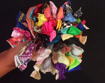 SALE* Pack of 50 Hair Ties - Random Colors - Grab Bag - Hair Accessories - Bracelet - Hair Elastic - No Crease Hair Tie Cute Colorful Tumblr
