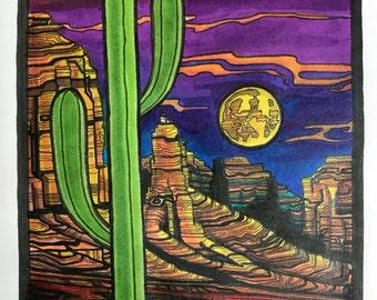 Desert Nightscape (print)