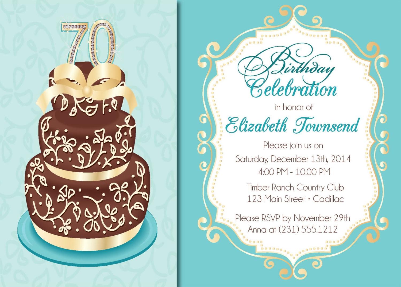 Elegant birthday cake adult birthday party invitations zoom filmwisefo Gallery
