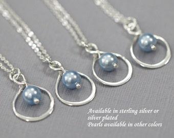 Light Blue Necklace, Bridesmaid Necklace, Bridesmaid Gift, Infinity Necklace for Bridesmaids, Light Blue Wedding Necklace, Infinity Necklace