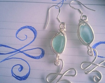New beginnings Celtic design and seaglass Earrings