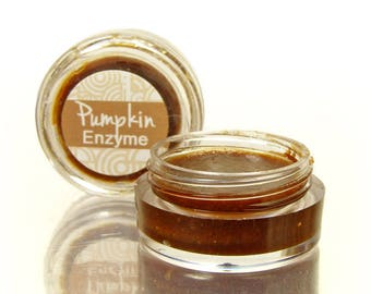 Face Mask Sample, with pumpkin enzymes, Enzyme Peel with Raw Honey and Fermented Pumpkin and Sea Kelp, Gently Exfoliates and Moisturizes