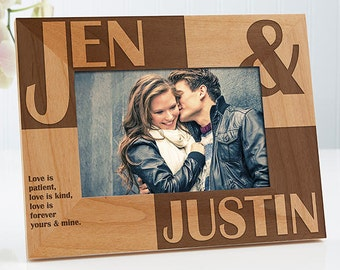 Because Of You Personalized Frame- 4x6