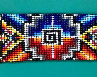 Rainbow Phoenix Rising>Beaded Bracelet, Native Style Jewelry, One of Kind Jewelry, Beaded Jewelry, Seed Bead Bracelet, Ceremonial Jewelry