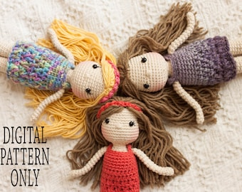 Free Crochet Amigurumi Mermaid Pattern : Crocheted mermaid doll pattern amigurumi mermaid doll
