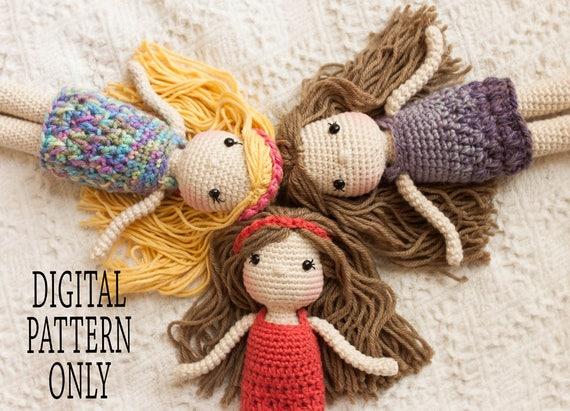 Amigurumi Doll Patterns : Amigurumi doll pattern crocheted doll pattern doll pattern