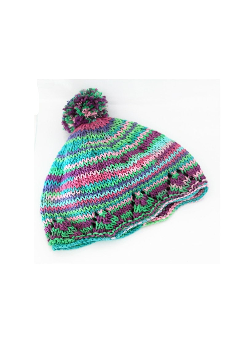 Baby bobble hat, Knitting pattern, Instant download, Baby knitting ...