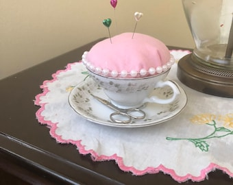 Tea Cup Pin Cushion