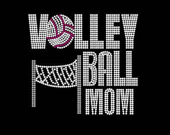 Volleyball Mom Rhinestone T-Shirt (Small - XL)