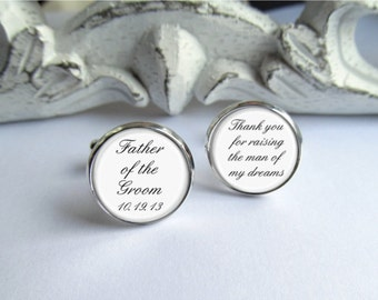 Cufflinks, Father Of The Groom Cufflinks, Customized Wedding Cufflinks